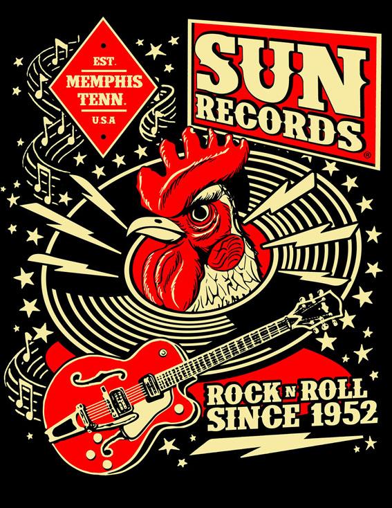 Sun Records Hop Men's Tee-63693