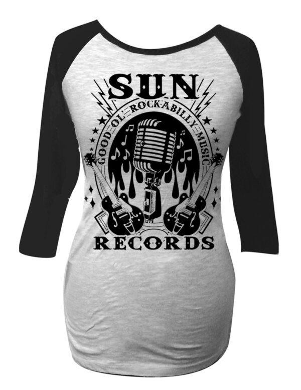 Sun Records Rockabilly Women's Ragla-63684