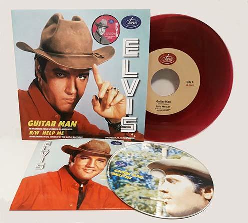 """Guitar Man / Help Me (Purple vinyl) 7"""" + CD-0"""