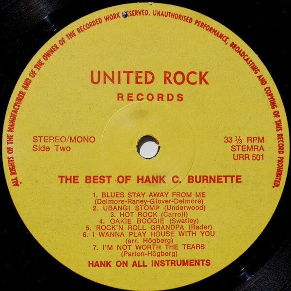 The Hank C. Burnette Sound -68262
