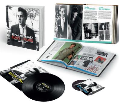 """Elvis in Paris - 60th Anniversary BOOK + CD + 10""""LP-0"""