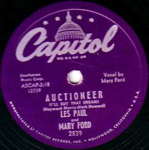 Auctioneer (I'll Buy That Dream) / I'm A Fool To Care -0