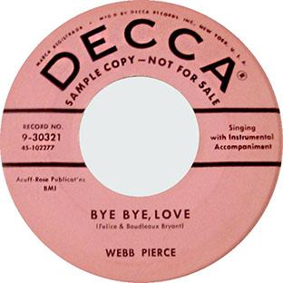 Bye Bye Love / Missing You-0