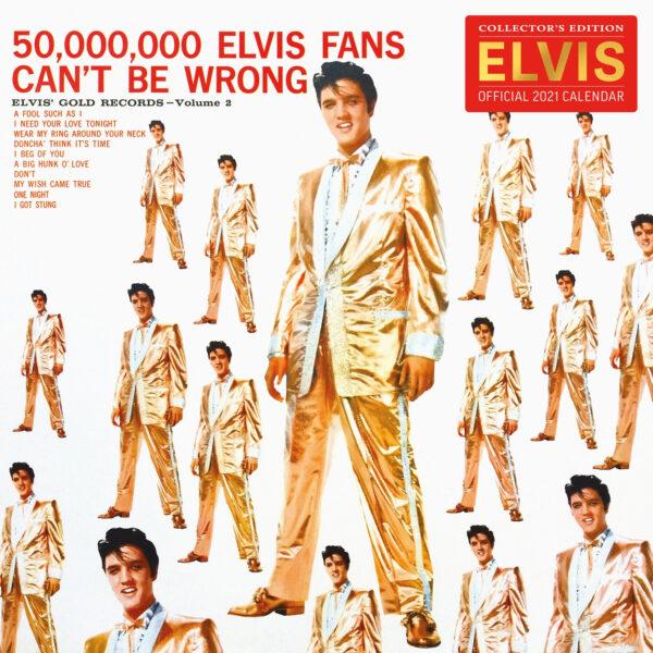 Official 2021 Calendar LP Size (Elvis 2021 kalenteri) GOLD RECORDS VOL 2-0
